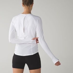 Lululemon• cover me long white long sleeve
